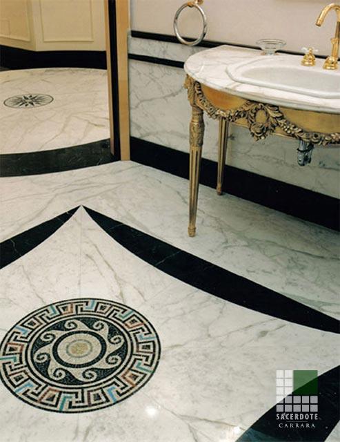 Pavimentazione Uffici Como - SACERDOTE MARMI - Carrara - Lavorazione marmo