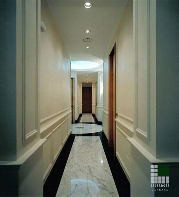 Pavimentazione uffici como   sacerdote marmi   carrara ...