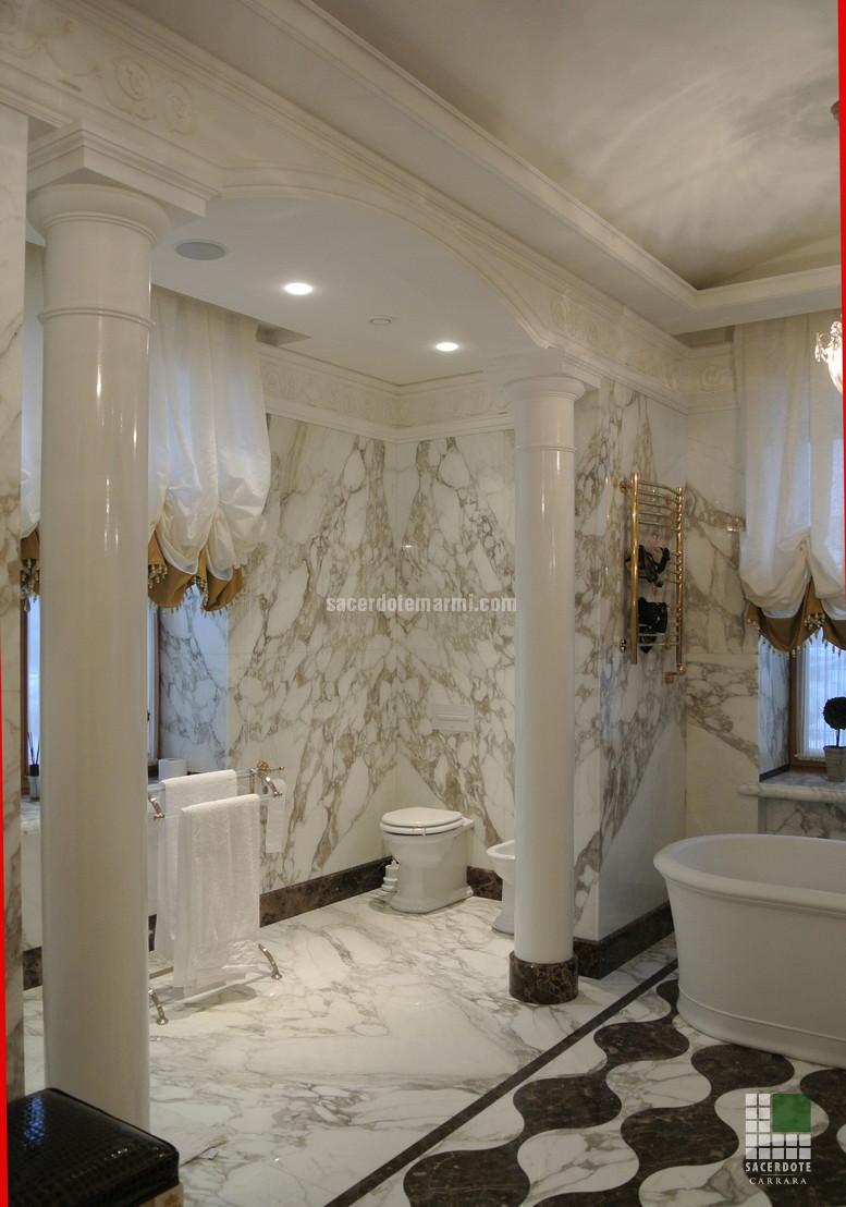 Scale, bagni e pavimentazione Villa S.Pietroburgo - SACERDOTE MARMI ...