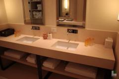 Doppelwaschbecken aus Gelbem Atlantide Marmor