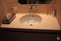 Waschbecken Oberfläche aus Gelbem Atlantide Marmor