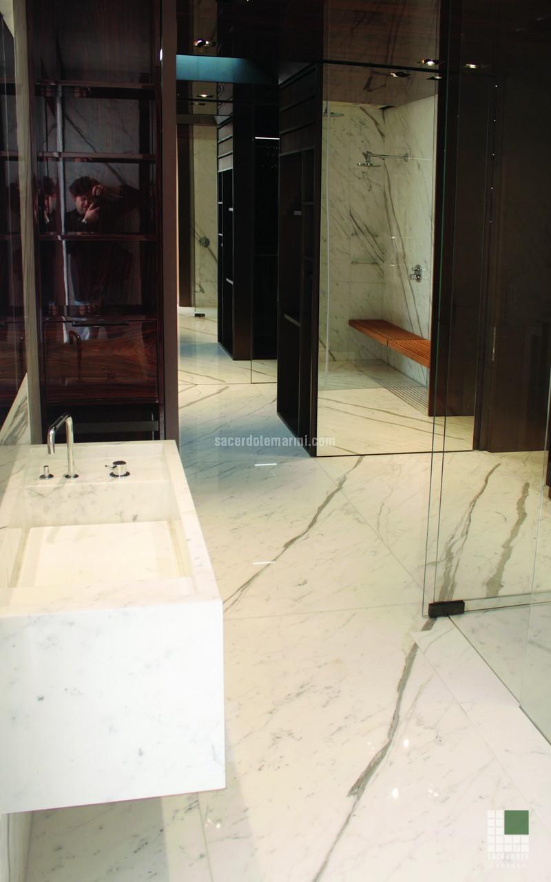 Naturale bianco statuario marmo bianco quotes - Bagno in marmo bianco ...