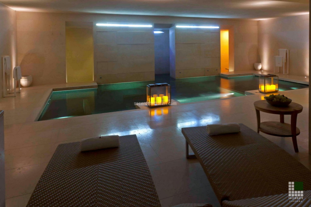 SPA in Capalbio realised with Atlantide Yellow marble