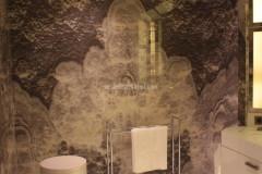 Intarsio e rivestimento in Onice Grey Pearl