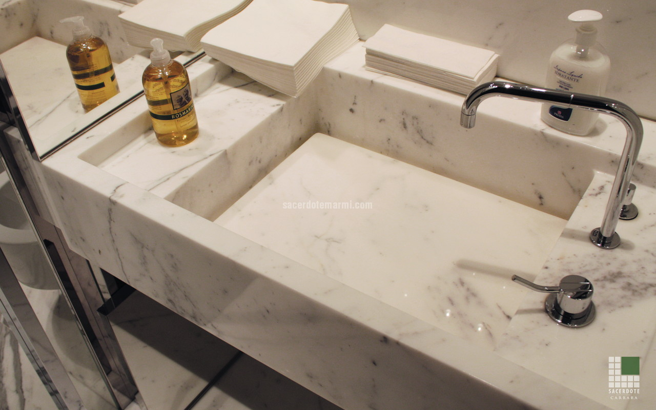 Rivestimento Bagno Marmo Bianco ~ duylinh for