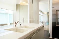 Top cucina a massello in marmo Bianco Statuario
