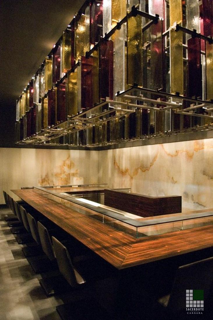 Onyx Hinterleuchtet restaurant in mailand sacerdote marmi carrara italienischer marmor