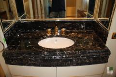 Lavabo in marmo Nero Portoro