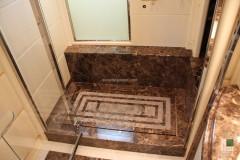 Piatto doccia in marmo Emperador Dark