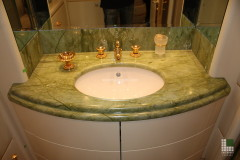 Top lavabo in marmo Verde Ming