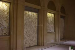 Наслоение мрамора Калакатта Вальи Оро на стекло