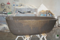 Monolithic Stone Grey bathtub