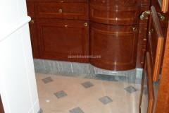 Bagno in marmo Beige Tala e Verde Spluga