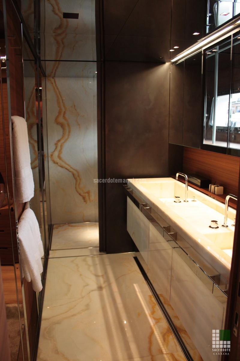 Rivestimenti bagni Yacht SL102 - SACERDOTE MARMI - Carrara - Lavorazione marmo