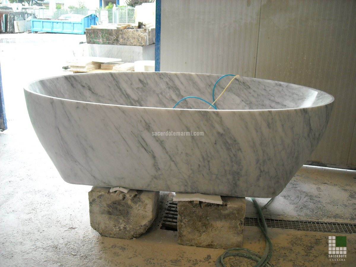 baignoires en marbre - sacerdote marmi - carrara - marbre italien