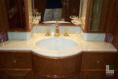 Top lavabo in marmo Afyon Dorato