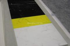 Konsole aus farbigem Bianco Statuario Marmor und Nero Marquinia