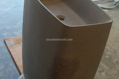 Lavabo da terra in Stone Grey