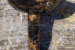 Раковина из мрамора Чёрного Порторо