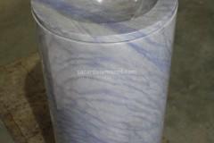 Freestanding washbasin realised with Azul Macauba