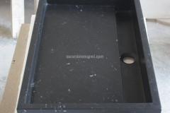 Black Marquinia overcounter washbasin