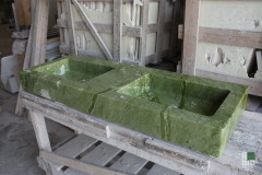 Washbasin carried out with Ming Green marble