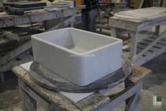 White Carrara overcounter washbasin