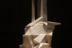 Sculpture realised with White Carrara marble by Luca Scacchetti