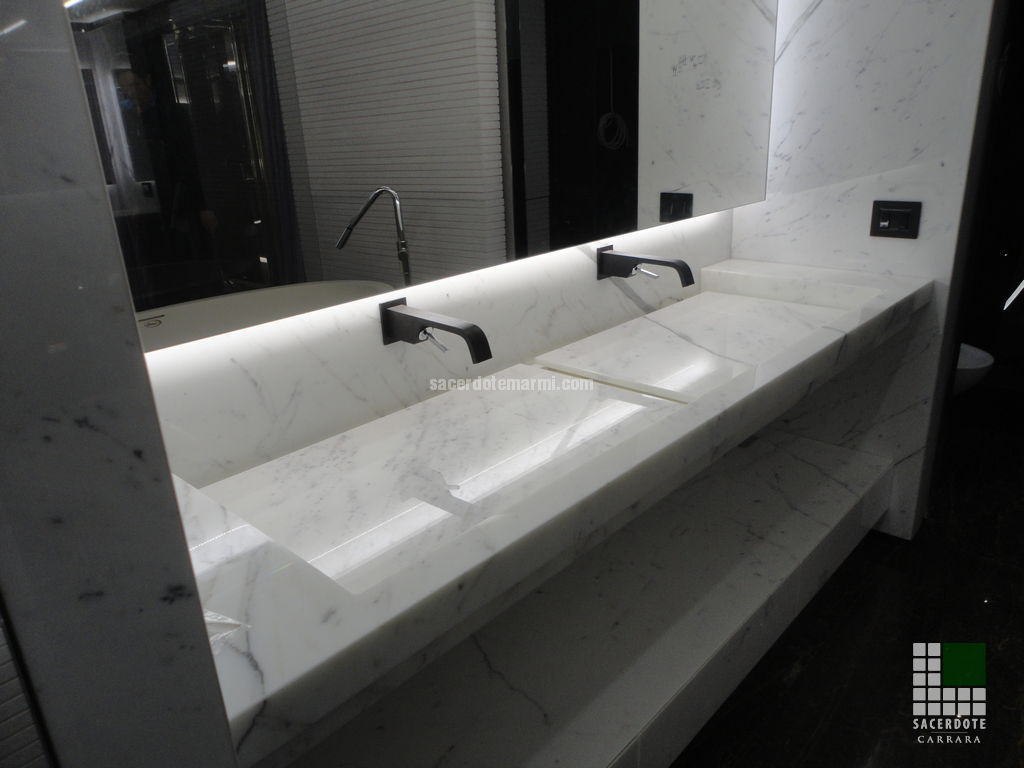 Arco Floor L besides En Yeni Moda Nis Gorselleri additionally 397935317046128888 further Gessi taps together with Marble And Limestone. on carrara marble bathroom