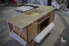 Struttura mobile in legno rivestita di marmo