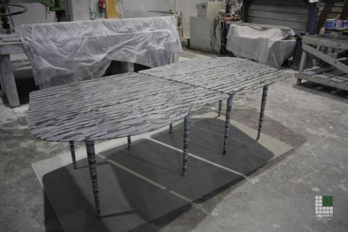Tisch aus Marmor Onda Marina