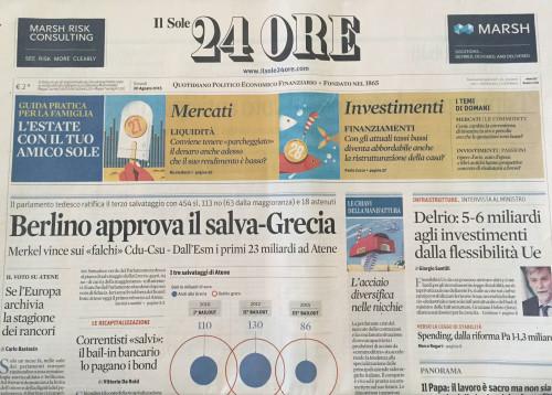 """Die Zeitung """"Il Sole 24 ORE"""""""