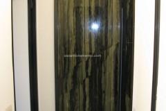 Rivestimento realizzato in marmo Verde Bamboo