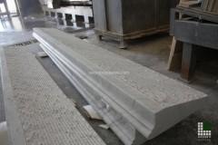 Pedata realizzata in marmo Bianco Carrara