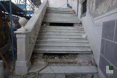 Intervento di restauro - Scala in marmo Bianco Carrara