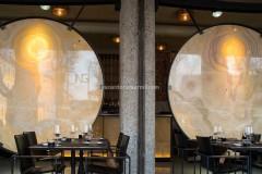 I gong in Onice Arancio installati